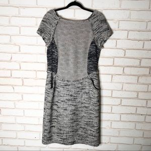 St John Black Label Woven Tweed Dress Sz 12